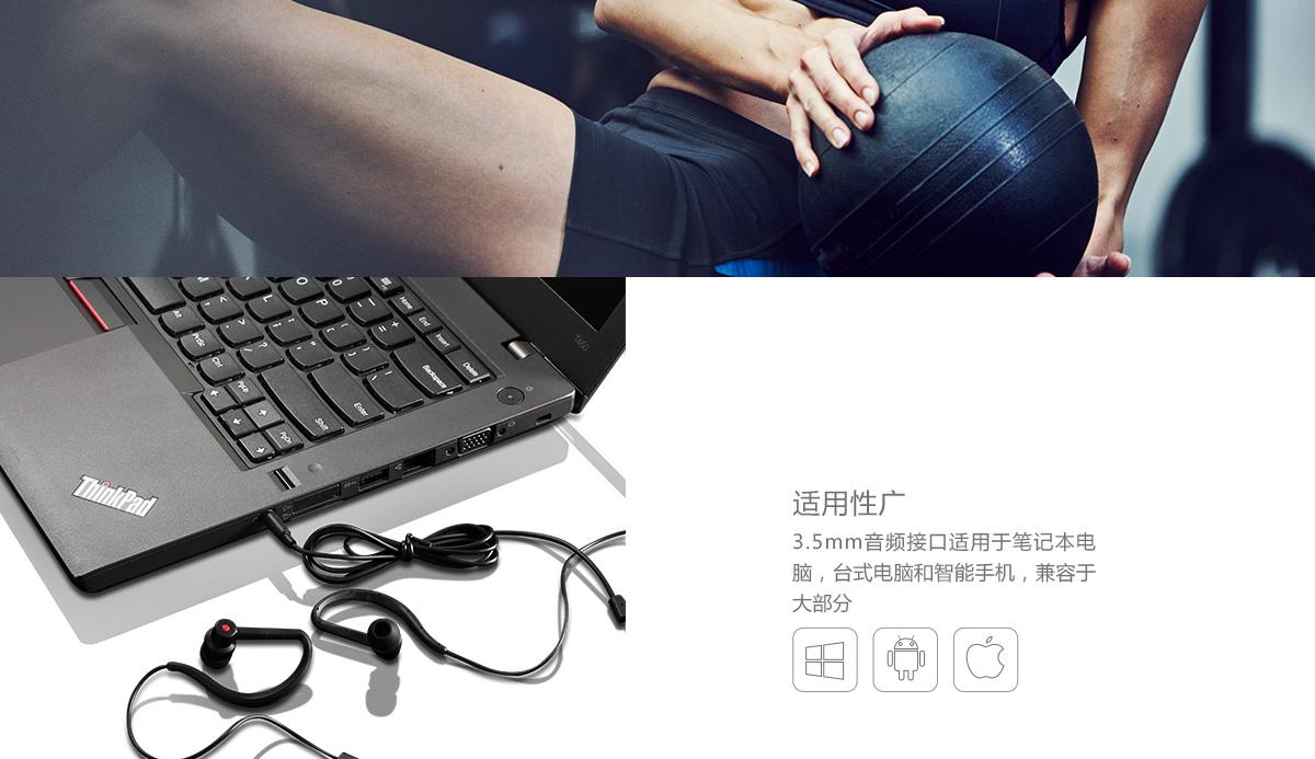 Thinkpad Lenovo耳挂式耳机 (4XD0K92774)