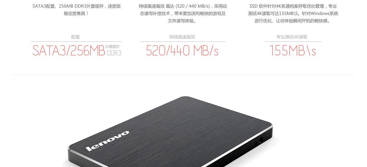 Thinkpad 联想固态硬盘600系列SATA3 240G (4XB0J40281)