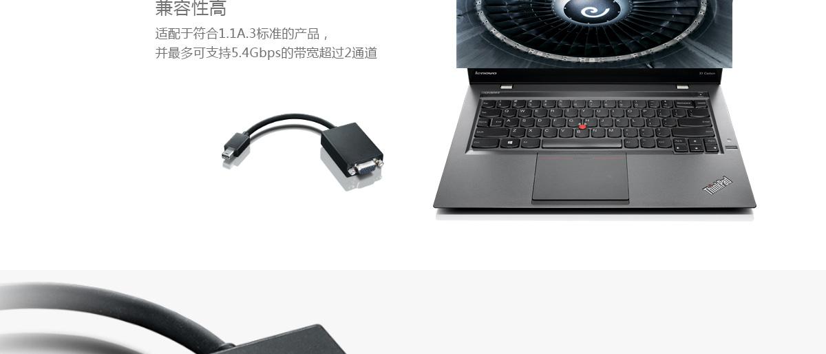 Thinkpad ThinkPad Mini DisplayPort 转VGA数据线 (0A36536)